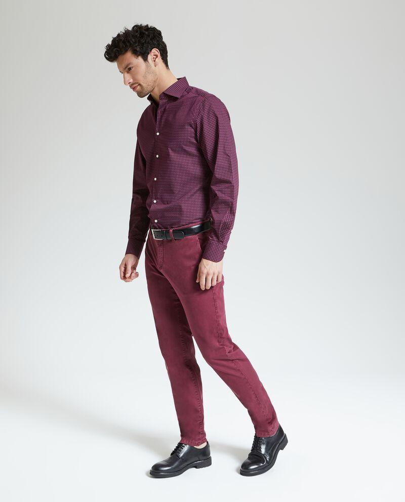 Pantaloni in tinta unita chino uomo