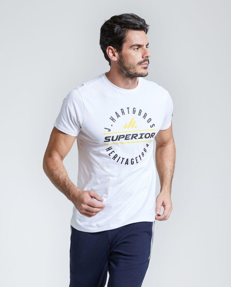T-shirt Fitness lettering uomo