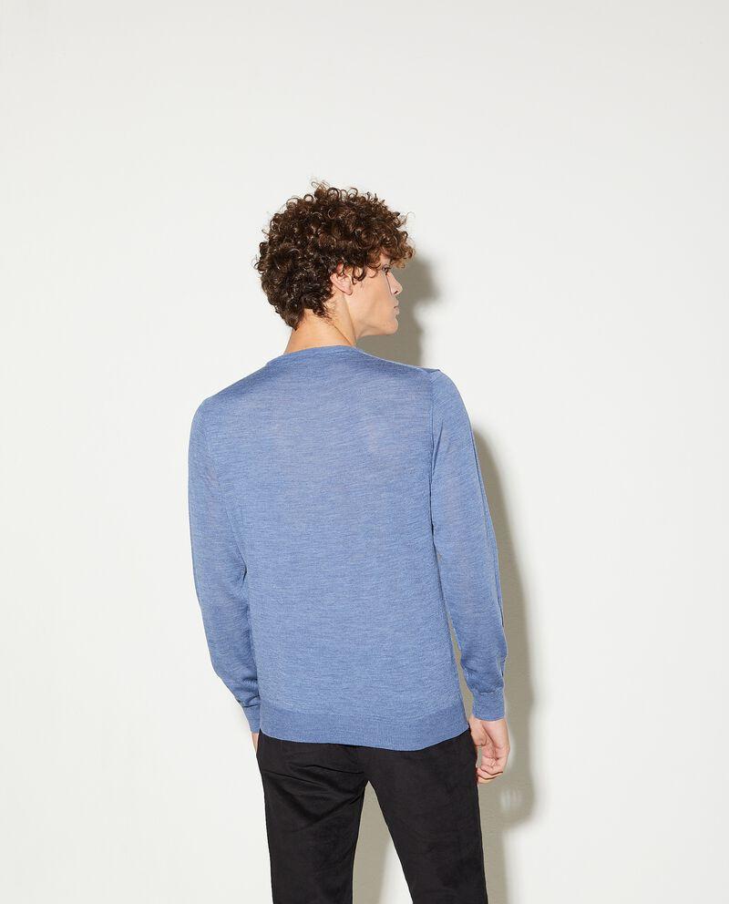 Maglioncino in pura lana merino uomo