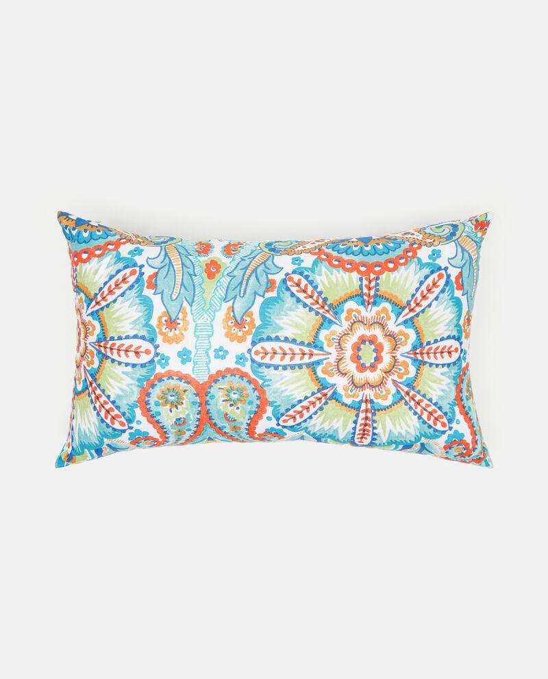 Cuscino in cotone con decoro paisley