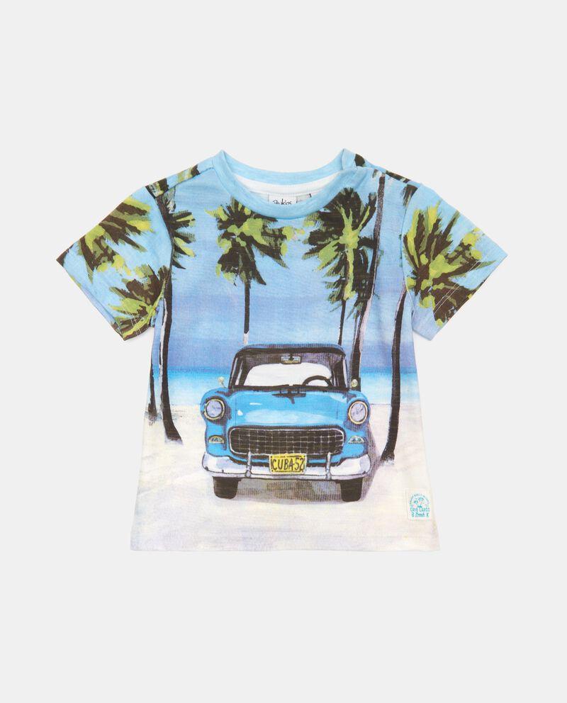 T-shirt in cotone organico con stampa a pannello neonato cover