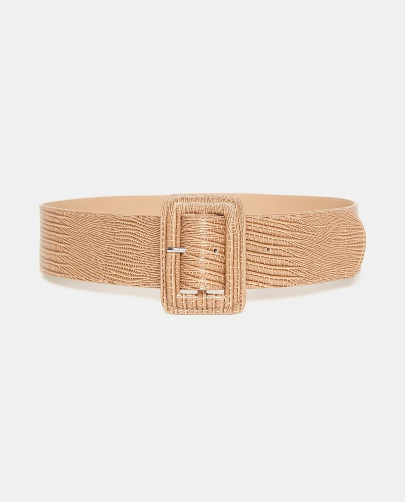 Cintura beige effetto pitonato donna