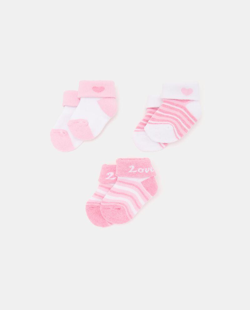 Pack con 3 paia di calzini in cotone organico neonata cover