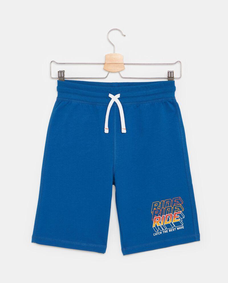 Shorts in puro cotone in tinta unita ragazzo