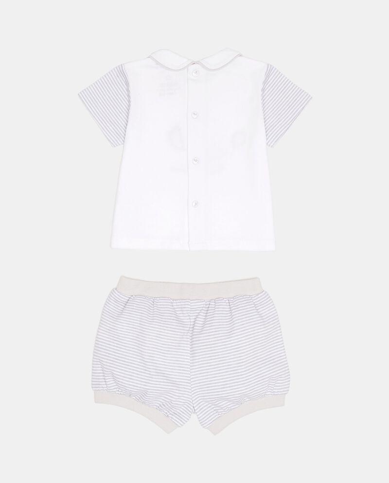 Completino t-shirt con colletto shorts