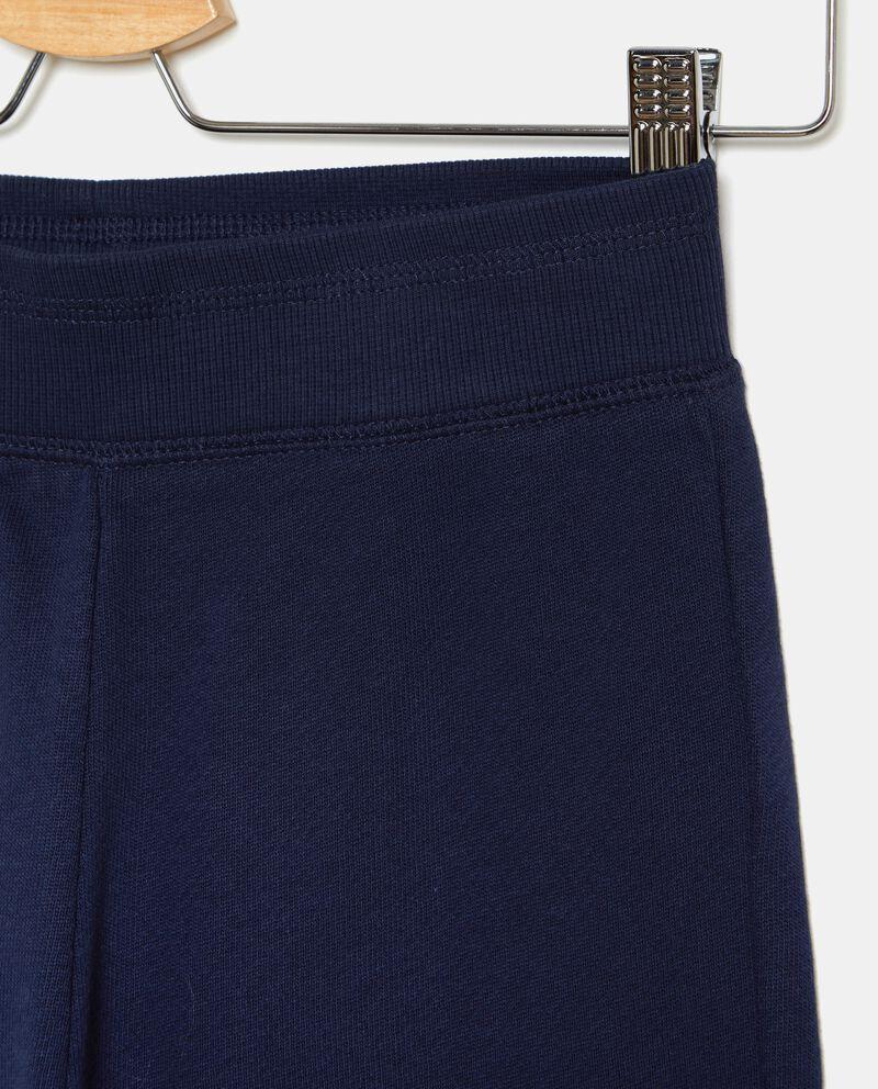 Pantaloni puro cotone in tinta unita ragazza