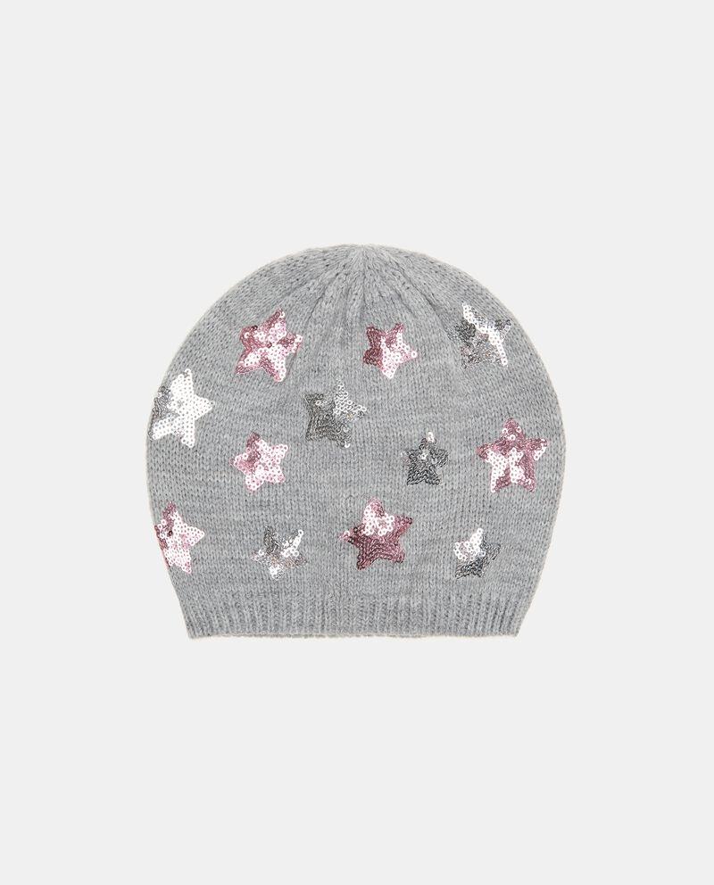 Cuffia tricot con stelline in paillettes cover