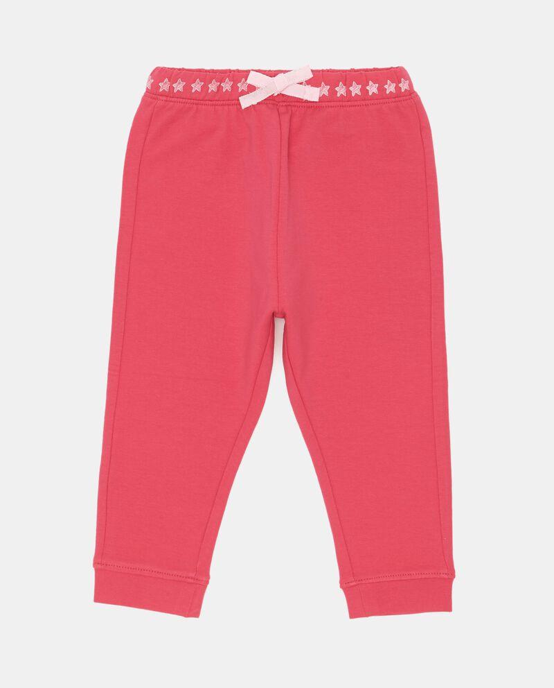 Pantaloni stampa cuori e fiocchetto