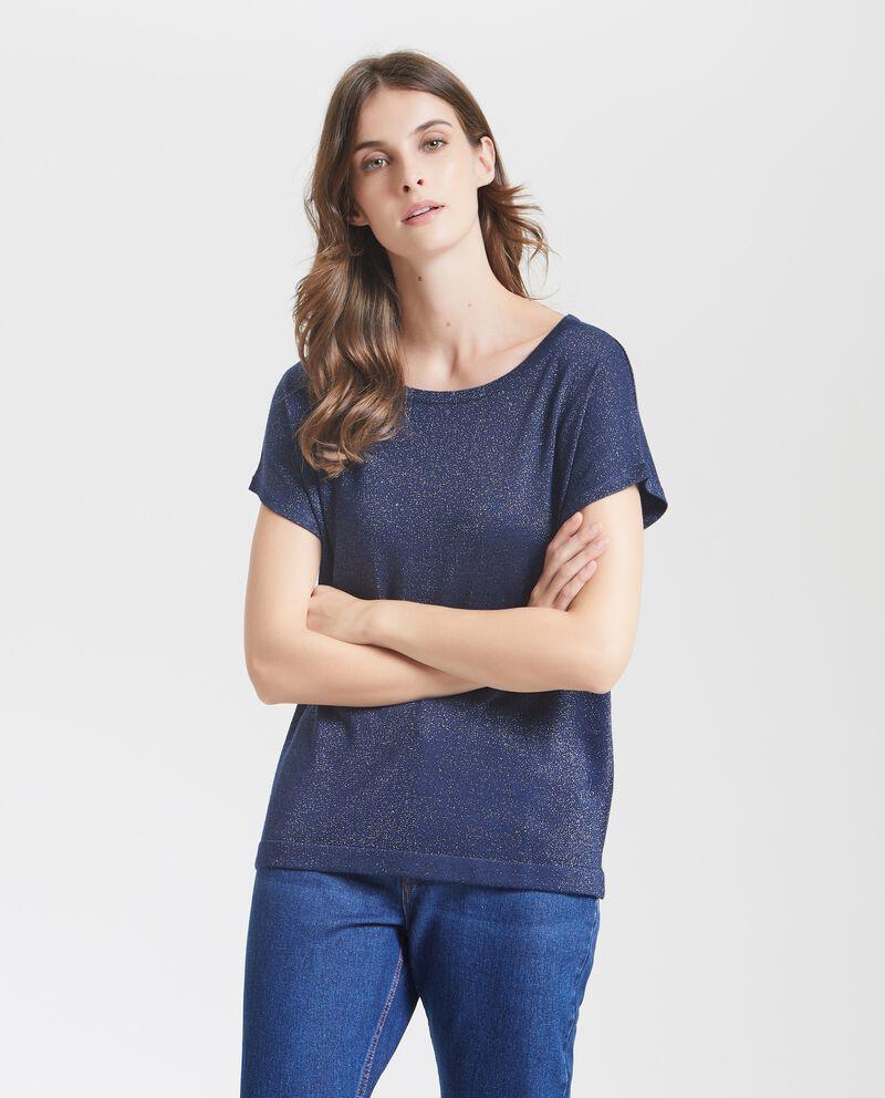 Top lurex in tinta unita tricot donna