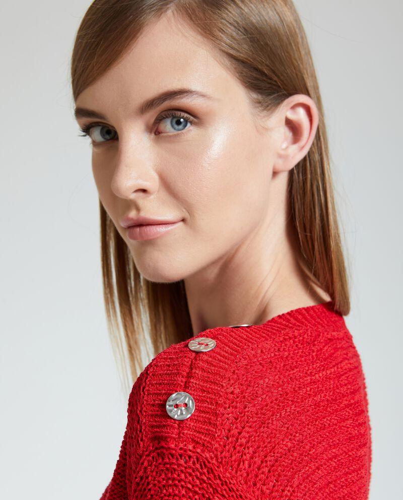 Maglione con bottoni donna