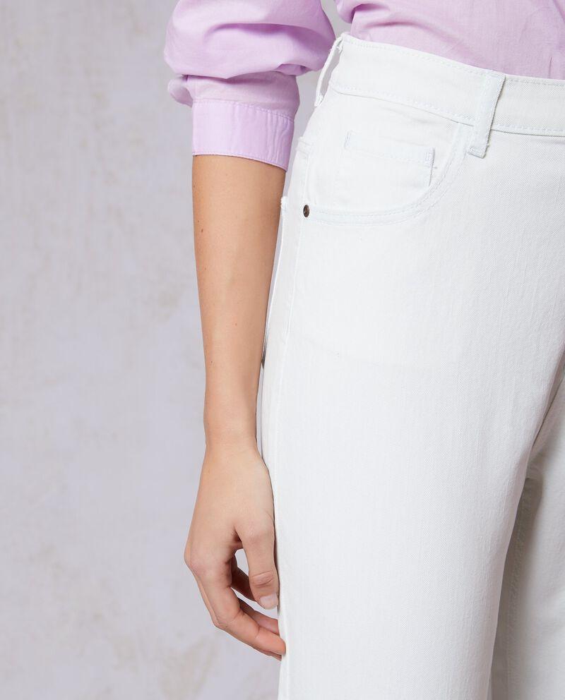 Jeans a vita alta stretch tinta unita