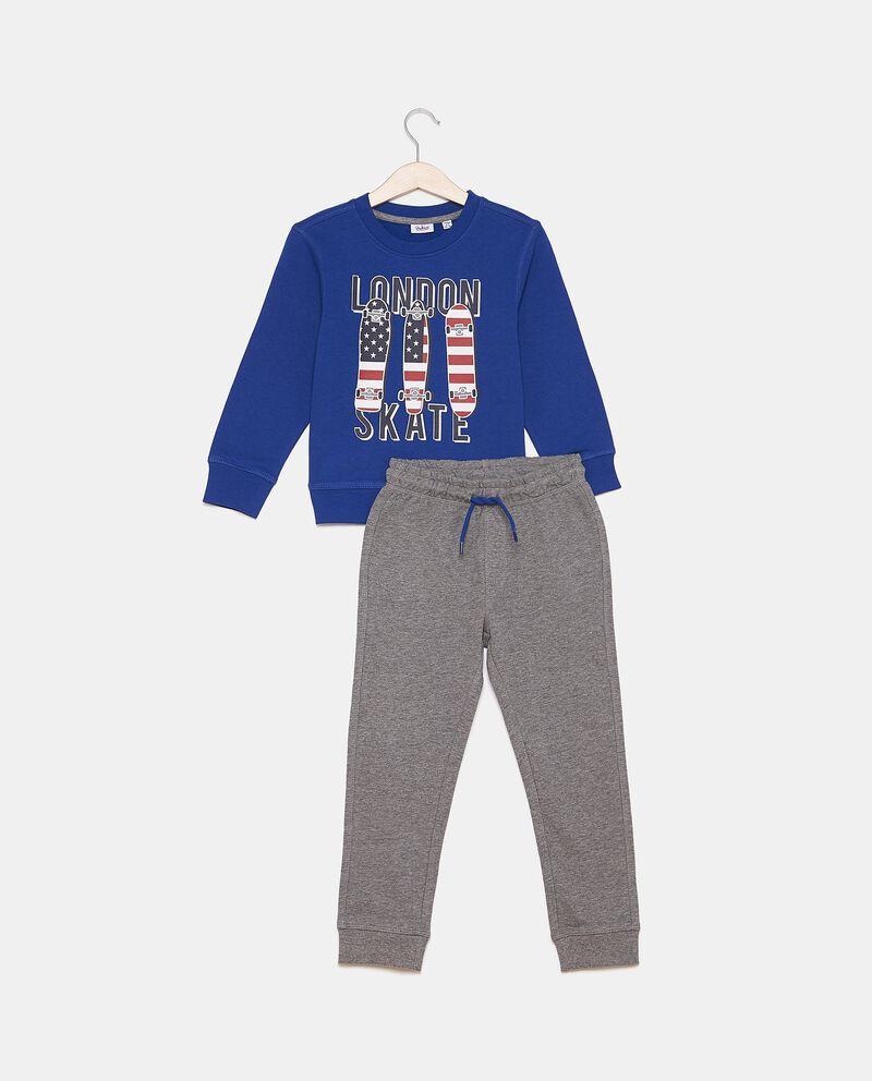 Set jogging felpa e pantaloni bambino