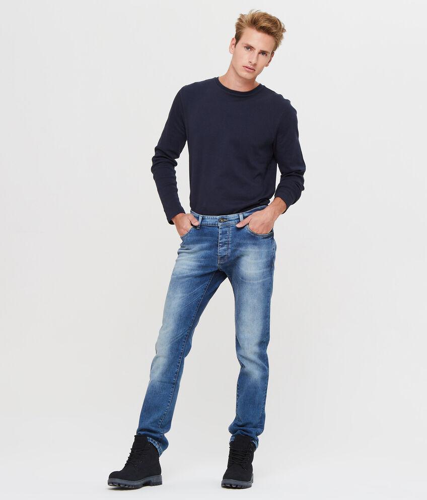 Jeans stretch cuciture a contrasto