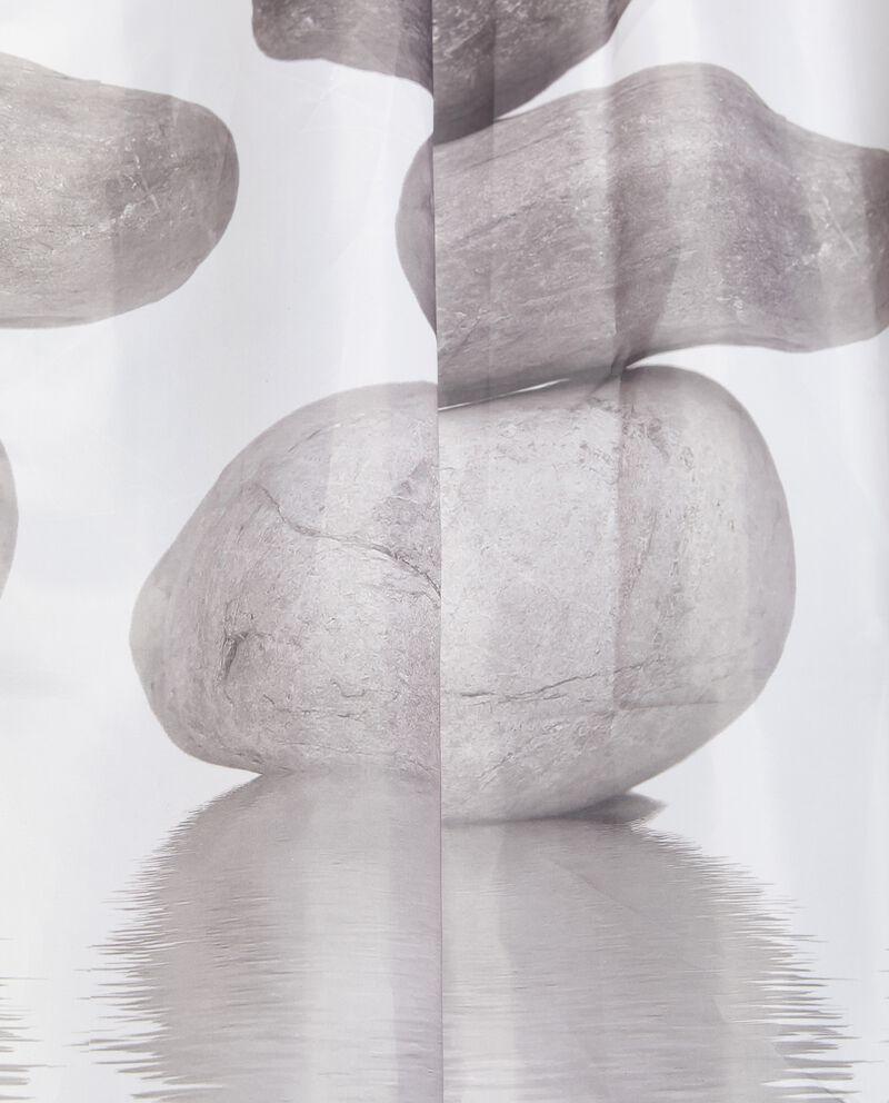 Tenda doccia con stampa sassi single tile 1