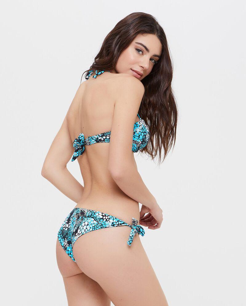 Slip Bikini con motivo animalier all-over