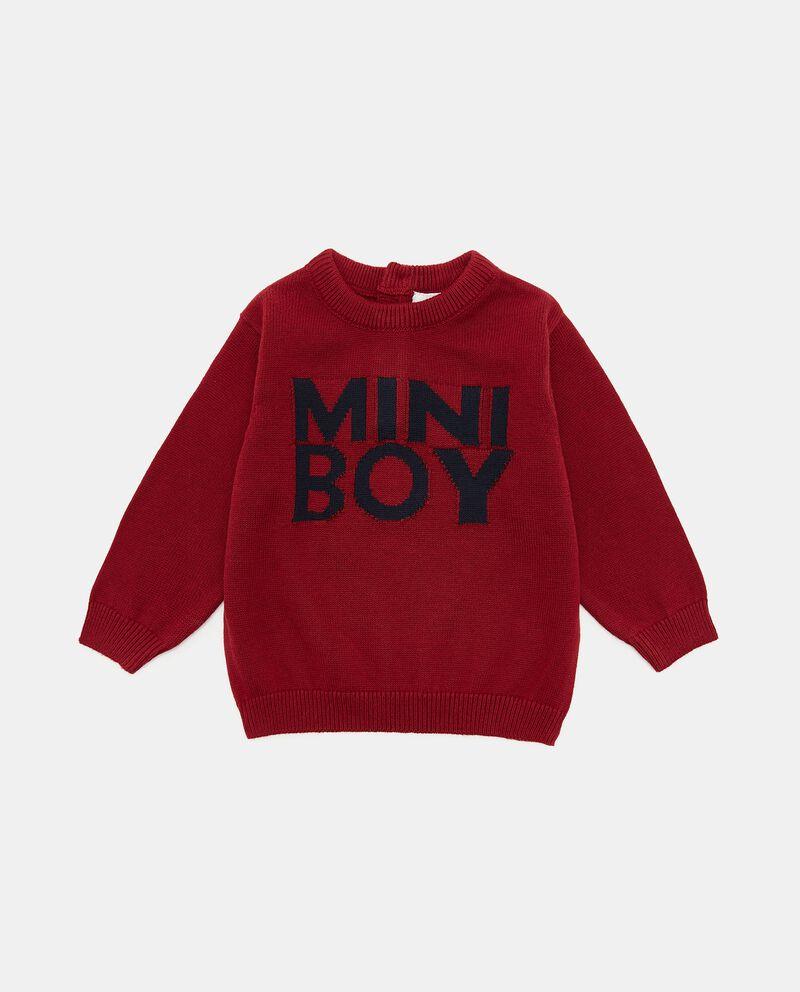 Maglione tricot in puro cotone con ricami neonatodouble bordered 0