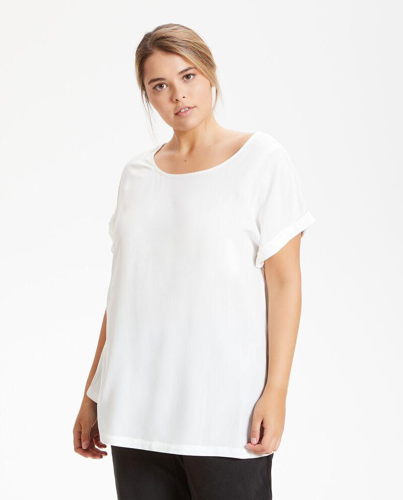 T-shirt in pura viscosa donna