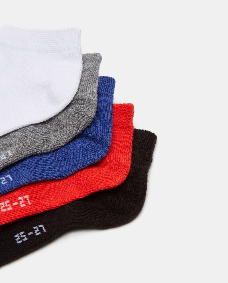 Set con 5 paia di calzini corti in cotone stretch bambino single tile 1