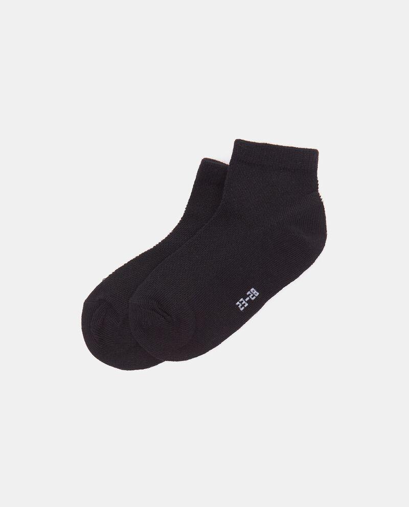 Calzini alla caviglia in cotone organico bambinodouble bordered 0
