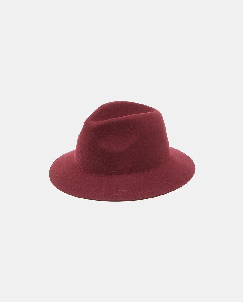 Cappello fedora in pura lana tinta unita donna