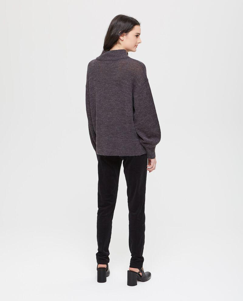 Pullover mélange tricot collo alto