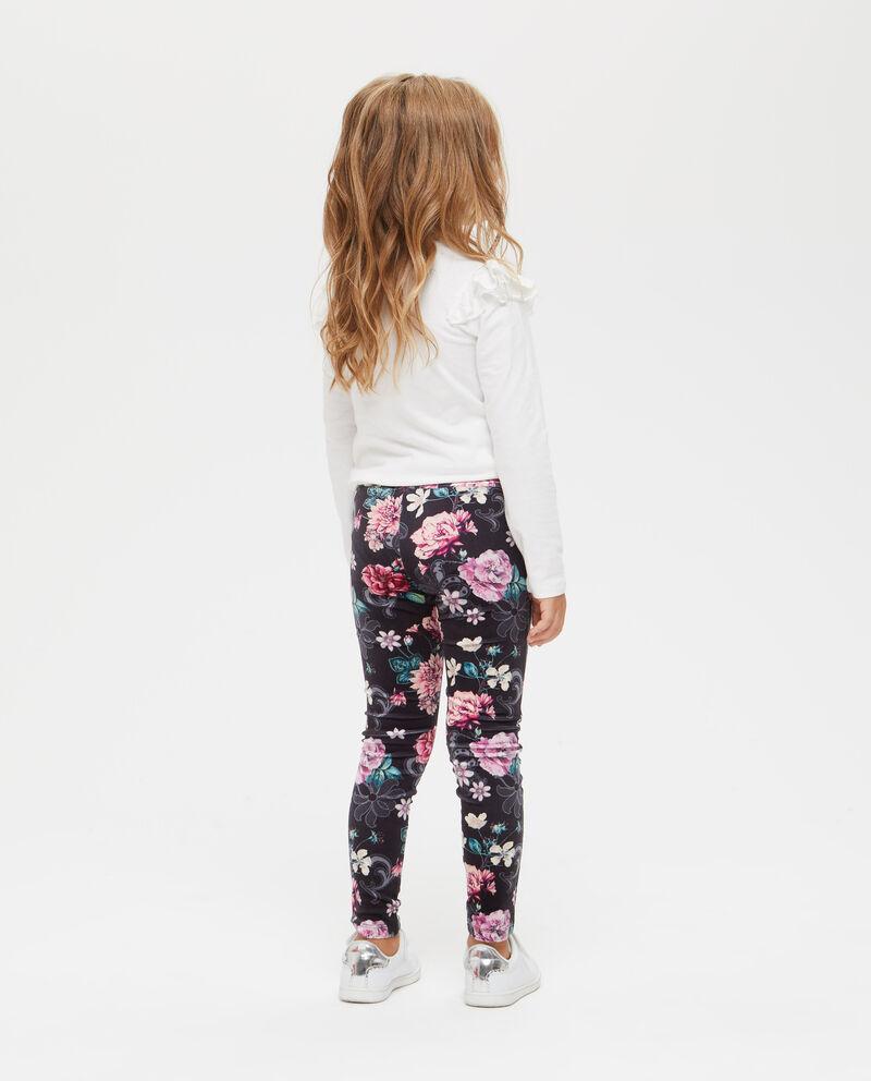 Leggings stretch floreali