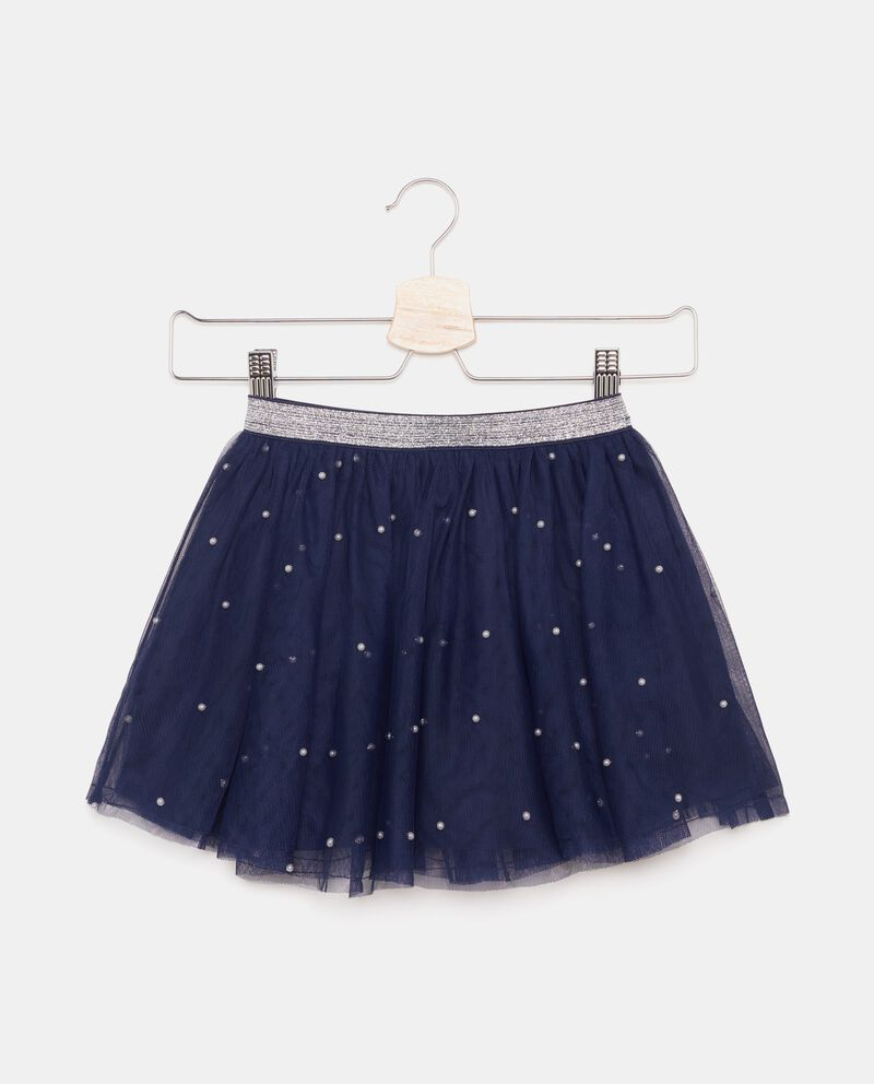 Gonna bambina in tulle con perline