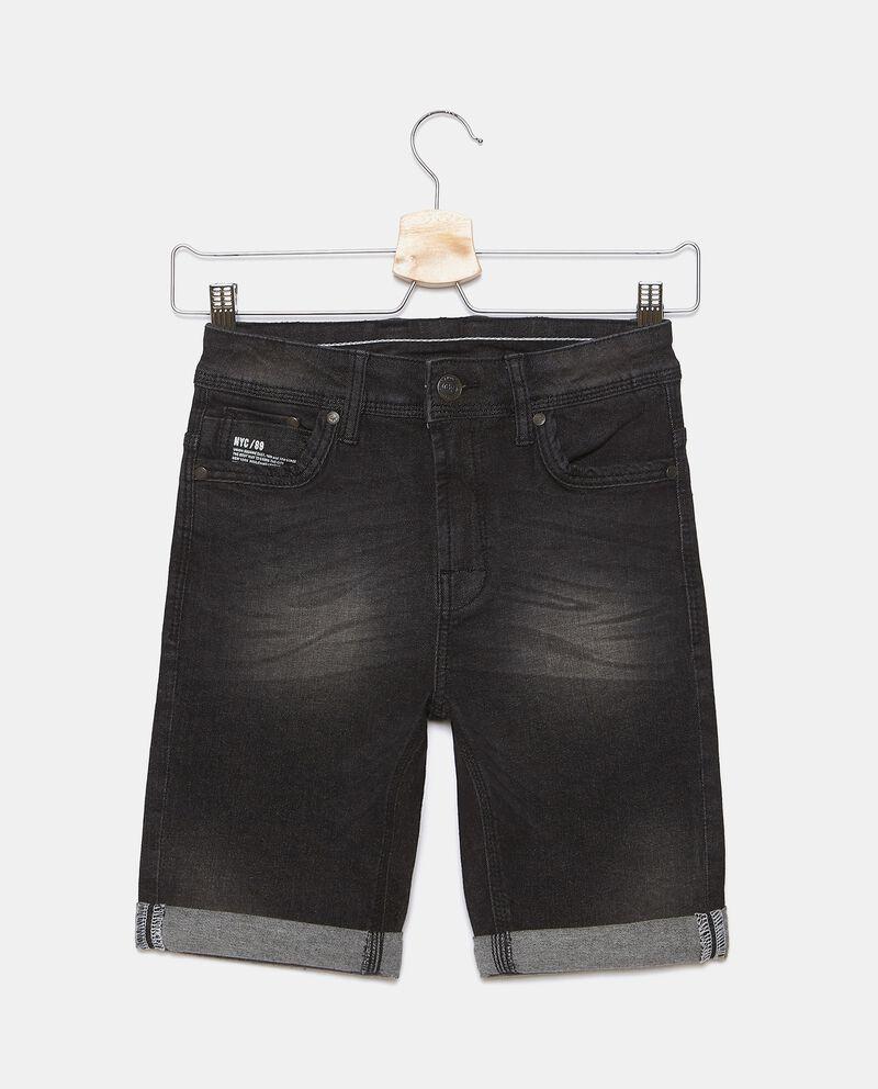Shorts in denim lavaggio stone ragazzo cover