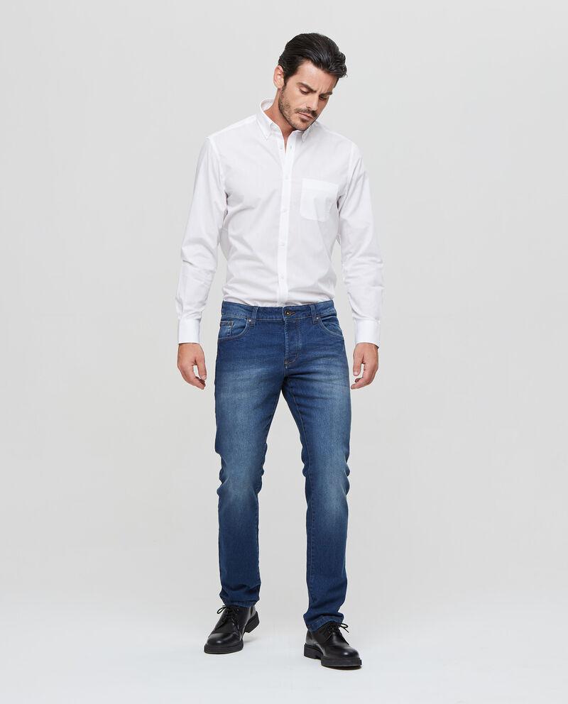 Jeans stretch chiusura con bottone