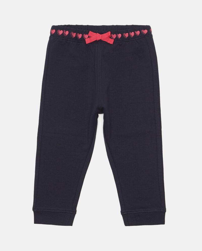 Pantaloni tinta unita con fiocchetto