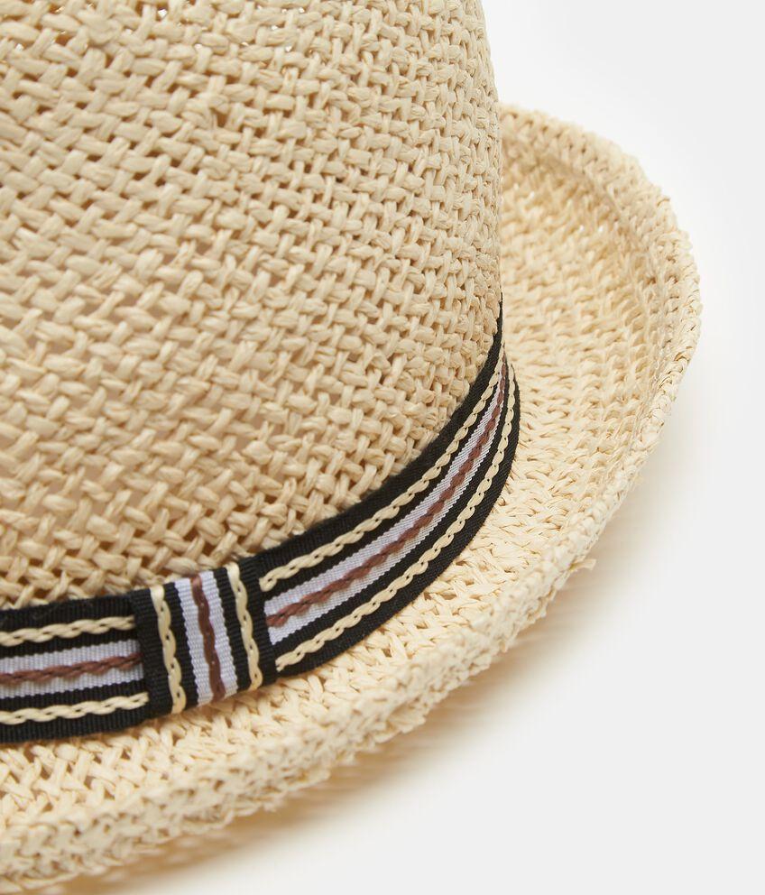 Cappello beige modello alpino con fascia uomo