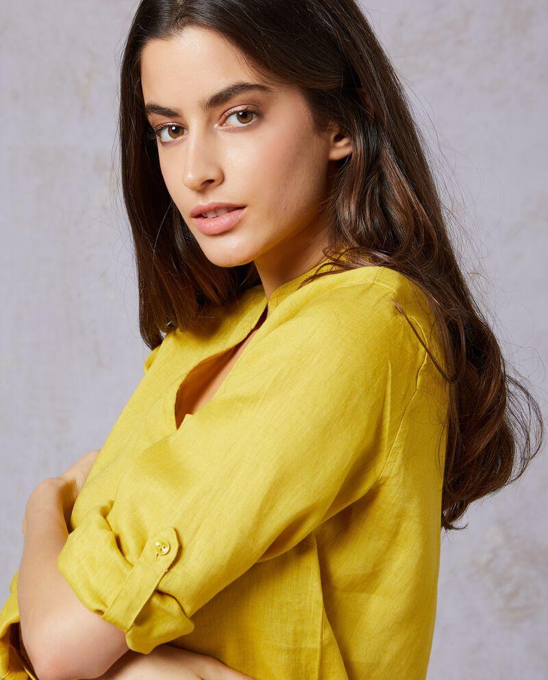 Camicia in tinta unita puro lino donna