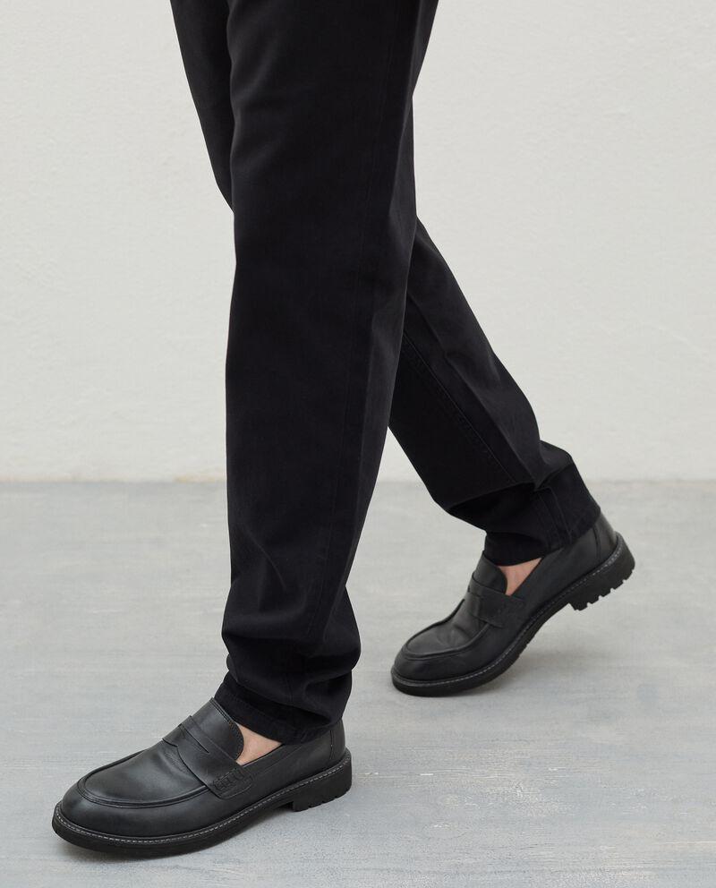 Pantaloni slim cinque tasche di puro cotone uomo single tile 2