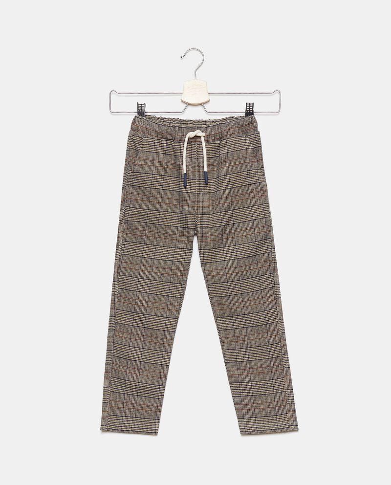 Pantaloni a quadri con cordoncino bambino