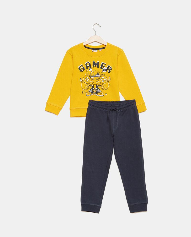 Set felpa e pantaloni in puro cotone bambino