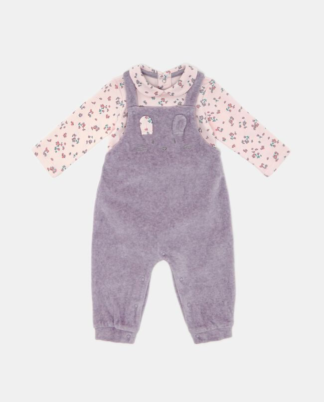 Set salopette e t-shirt neonata