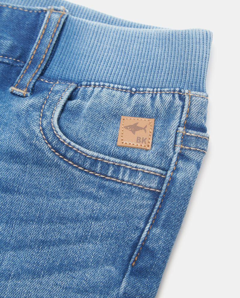 Shorts denim vita elasticizzata neonato single tile 1