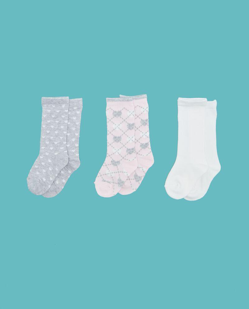 Set calzini lunghi fantasia e tinta unita neonata