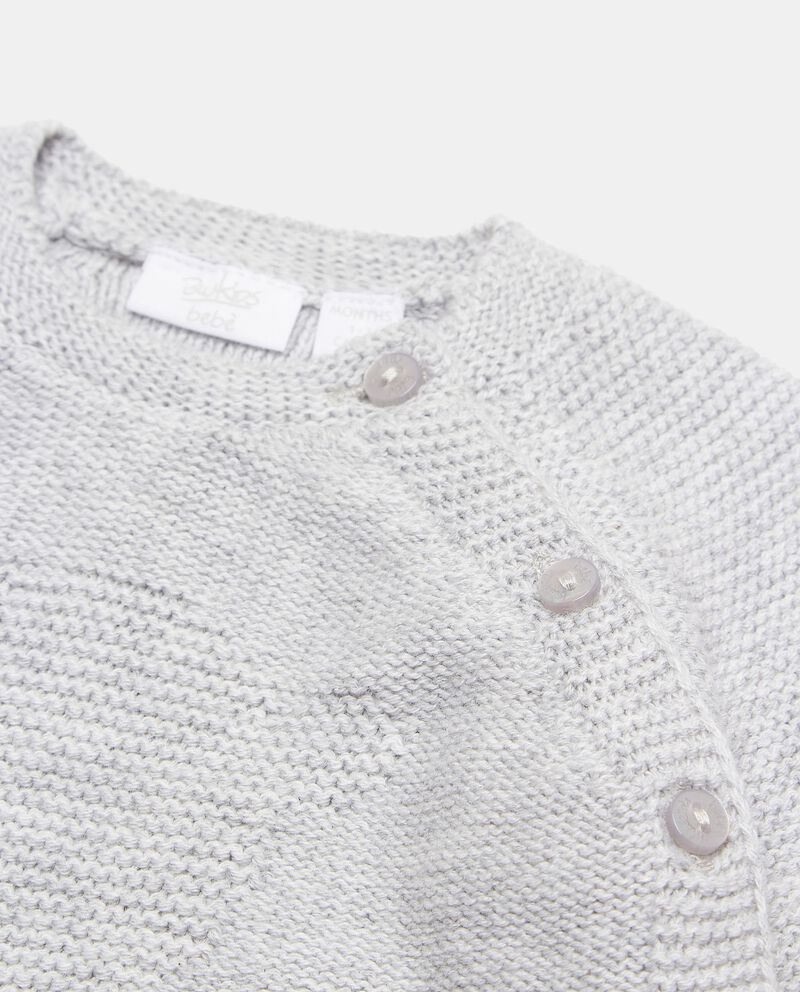 Cardigan in maglia con bottoni in puro cotone neonato