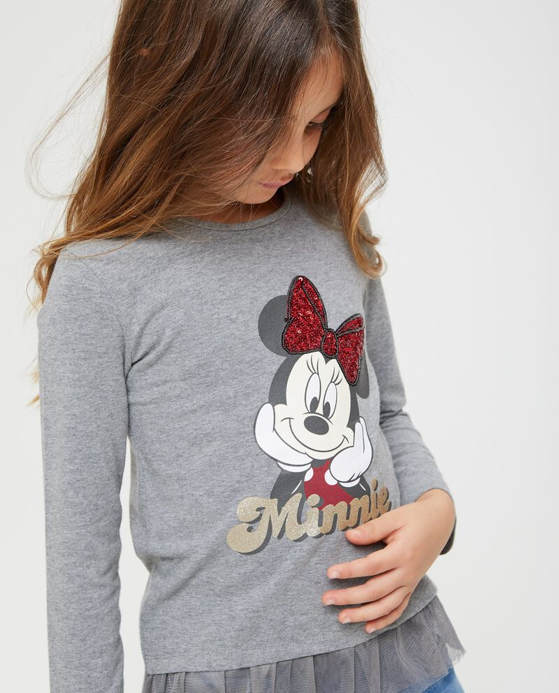T-shirt con volant e stampa Minnie