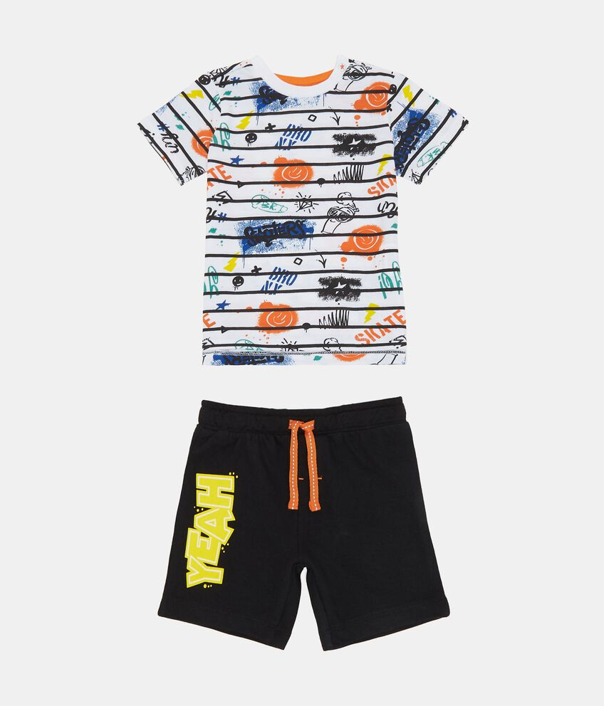Jogging set t-shirt e shorts fantasia