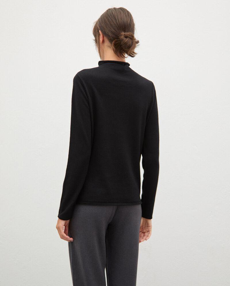 Maglia in lana con collo medio-alto donna single tile 1