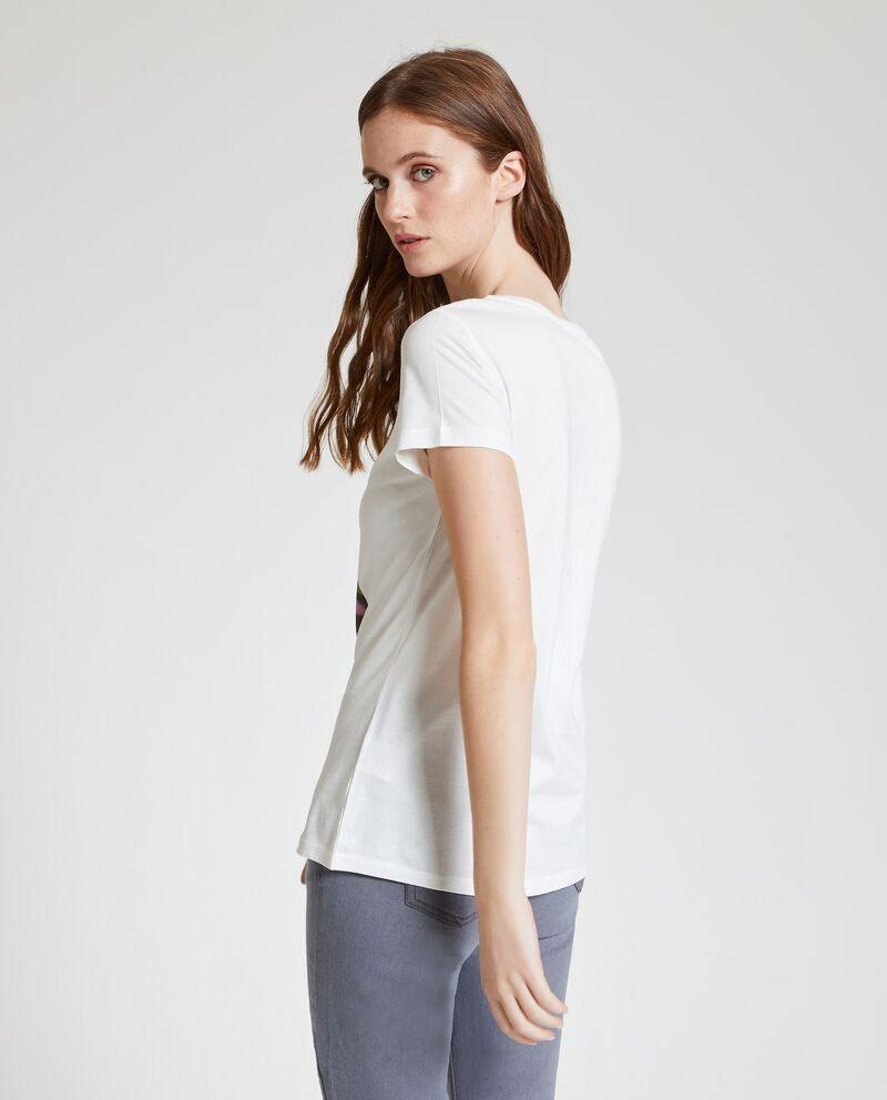 T-shirt in puro cotone con stampa single tile 2