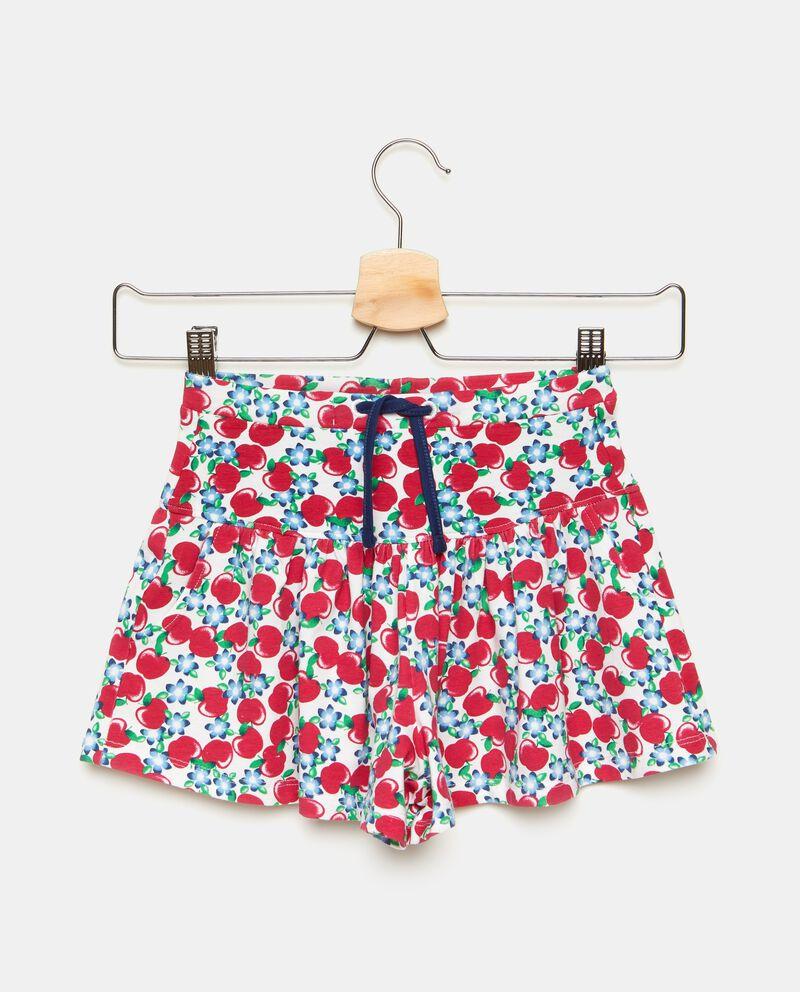 Gonna pantalone corta con fantasia ciliegie bambina