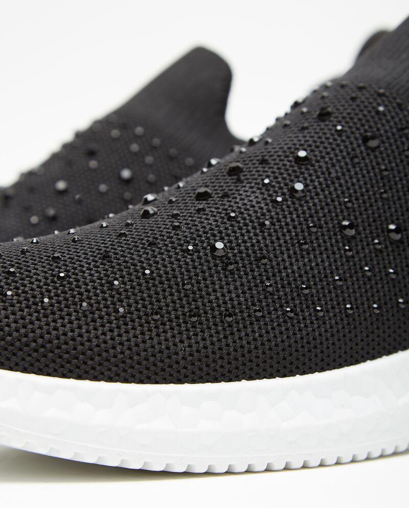Sneakers con strass in tessuto in maglia donna single tile 1