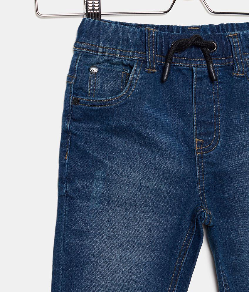 Jeans in cotone elasticizzato con cordoncino bambino