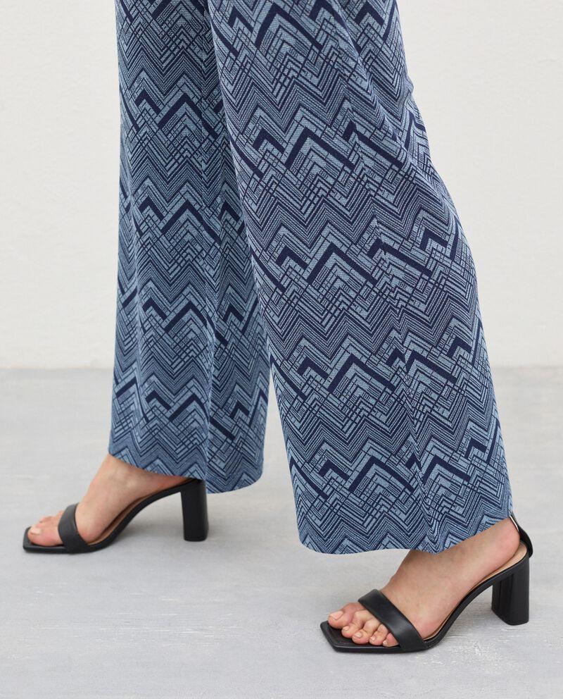 Pantaloni a palazzo con filo lurex donna single tile 2