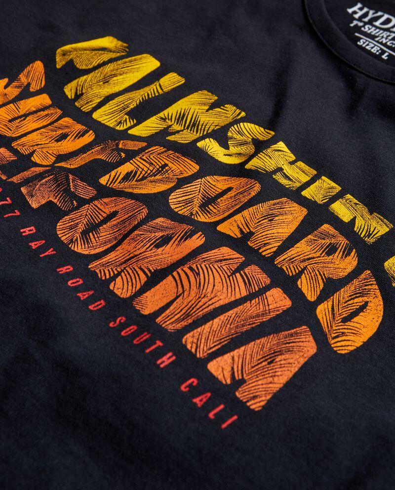 T-shirt con lettering puro cotone uomo