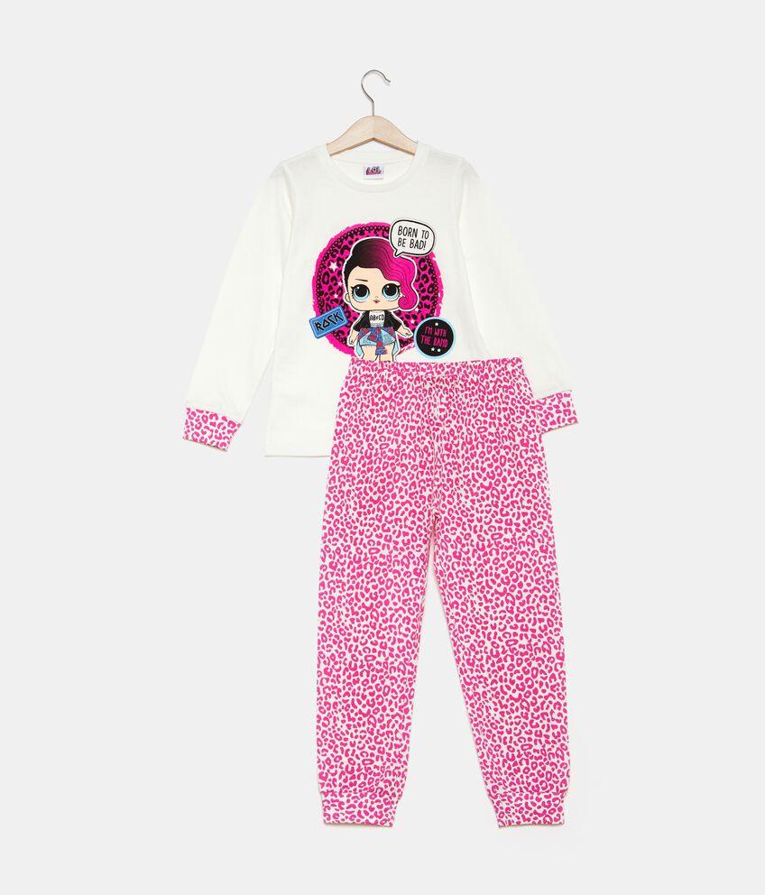 Set pigiama t-shirt e pantaloni animalier bambina