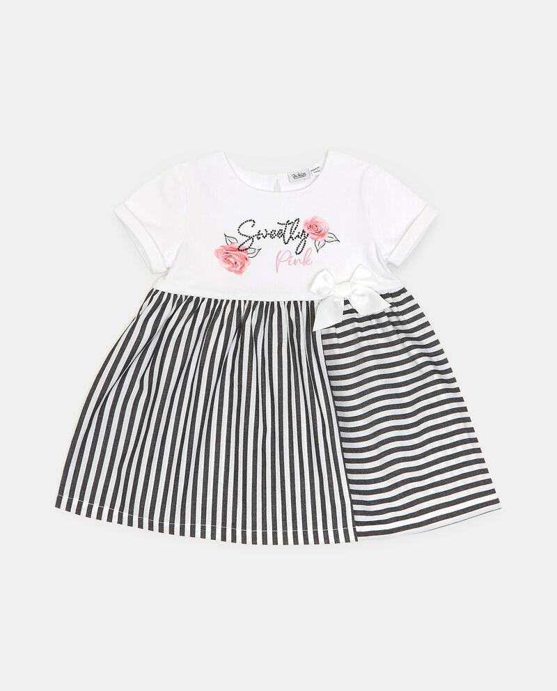 Vestito in cotone organico stretch neonata